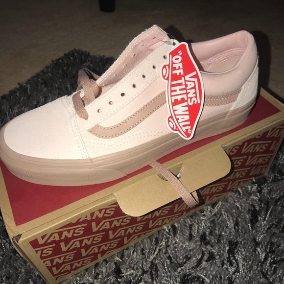 917a2b7d87edb8 Pink nude old skool vans! Size 8.5 women